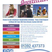 Employer Inspiration Evening - Tuesday 22nd August