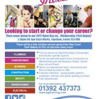 Apprenticeship & Traineeship Open Day - Wednesday 23rd August