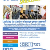 Retraining & Upskilling Open Day - Thursday 24th August