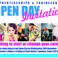 Open Day on Wednesday 29th